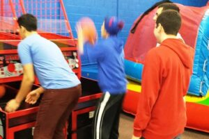 Teenagers and dads tend to love our basketball hoops!