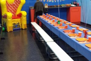 Our private rooms are large and can fit larger groups. All birthday parties are set up with plates, cups, napkins and silverware by your special host, feel free to bring it your own decorations!